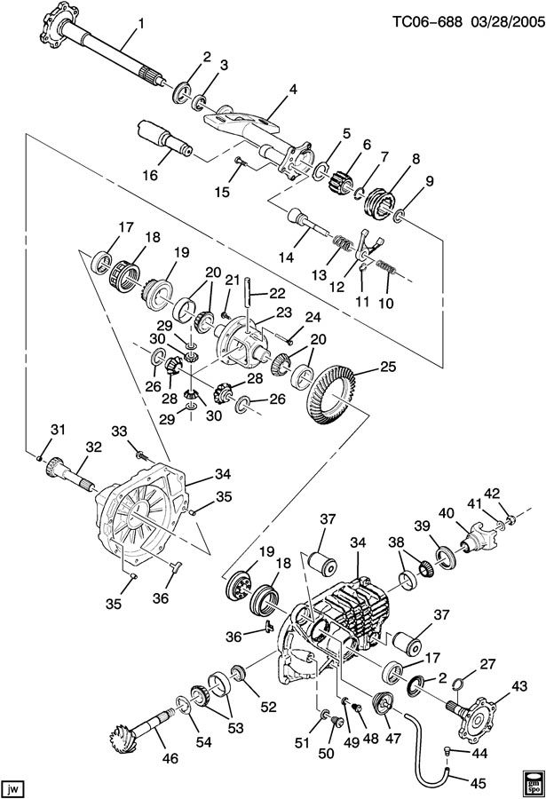 chevrolet silverado differential carrier  front axle part 2