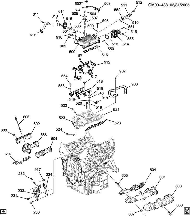 engine asm 3 5l v6 part 5 manifolds fuel related parts
