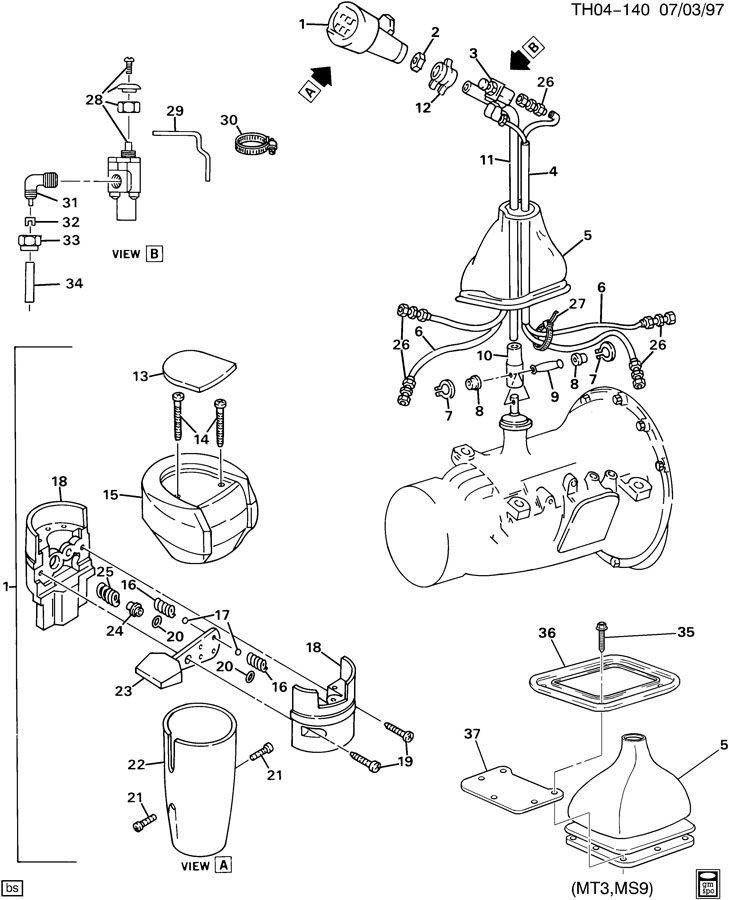 Manual Transmission Shift Lever
