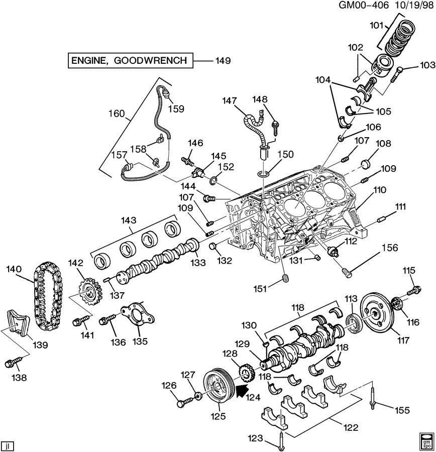 engine asm 3 4l v6 part 1 cylinder block related parts. Black Bedroom Furniture Sets. Home Design Ideas